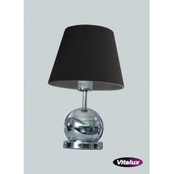 Lampka CLETO 1xE14 40W chrom klosz czarny