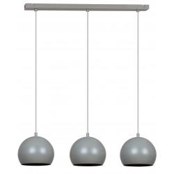 LAMPA 375 3xE27 60W szara