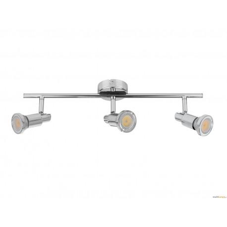 KINKIET STAR inc.3xGU10 4,5W LED 360lm CHROM