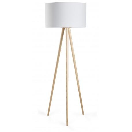 Lampa podłogowa TRÓJNÓG duża, 1xE27, kolor buk
