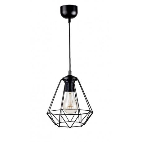 LAMPA  DRUT 1XE27 60W CZARNA