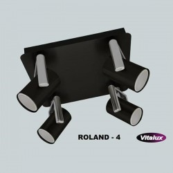 PLAFON ROLAND 4X GU10  CZARNY