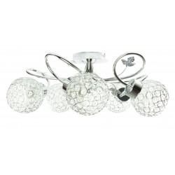 LAMPA 604 5X E27 CHROM+KRYSZTAŁKI